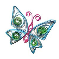 paper quilling 4 مدل منبت کاری با مقوا paper quilling
